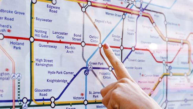 One reason people don't pick the quickest route is that modern transport maps, like the Tube map, are geographically inaccurate.