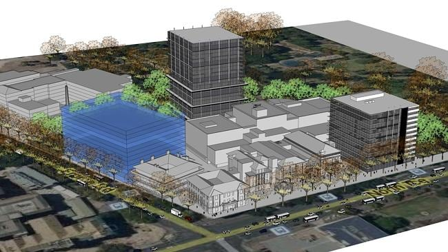 An rtist impression of the Liberal Party's proposed RAH medical redevelopment.