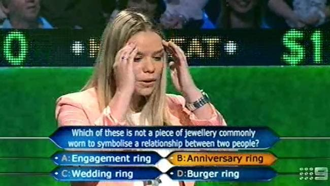 Uh oh ... the cringe-worthy moment Whitney Beseler realises her mistake. Picture: Supplied