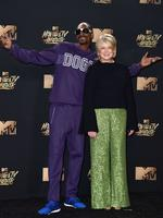 Snoop Dogg and Martha Stewart pose in the press room during the 2017 MTV Movie And TV Awards at The Shrine Auditorium on May 7, 2017 in Los Angeles, California. Picture: Getty