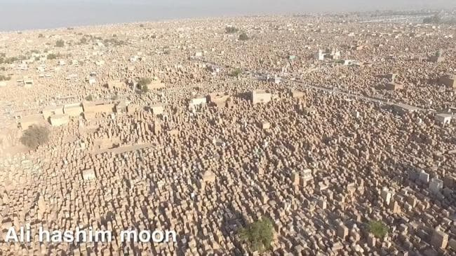 A huge 50,000 new people are buried each year. Picture: Ali Hashim Moon