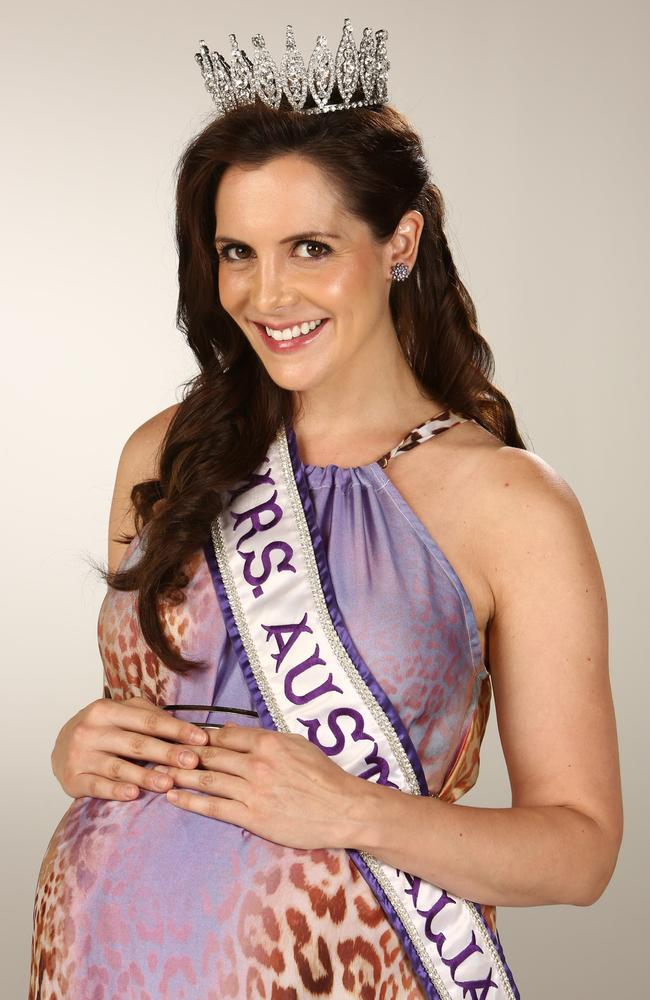 Mrs Universe Australia Piper O'Neil, pictured when she was 34 weeks pregnant. Picture: Chris Pavlich
