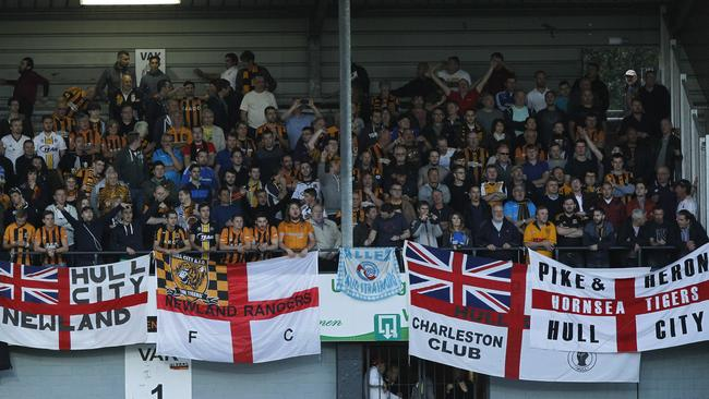 Hull City's fans turned up in numbers to watch the Europa League playoff.
