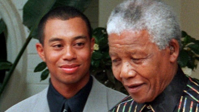 Tiger woods and nelson mandela