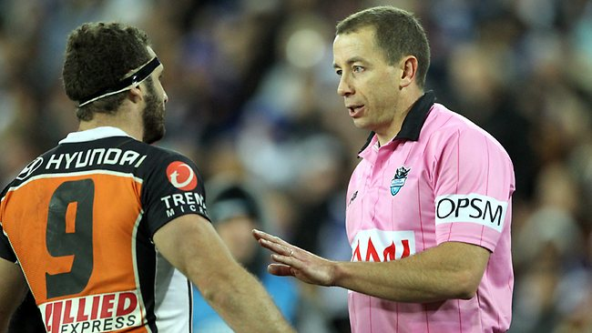 Bill Harrigan would like to see referee Ben Cummins in Origin III. Picture: Mark Evans