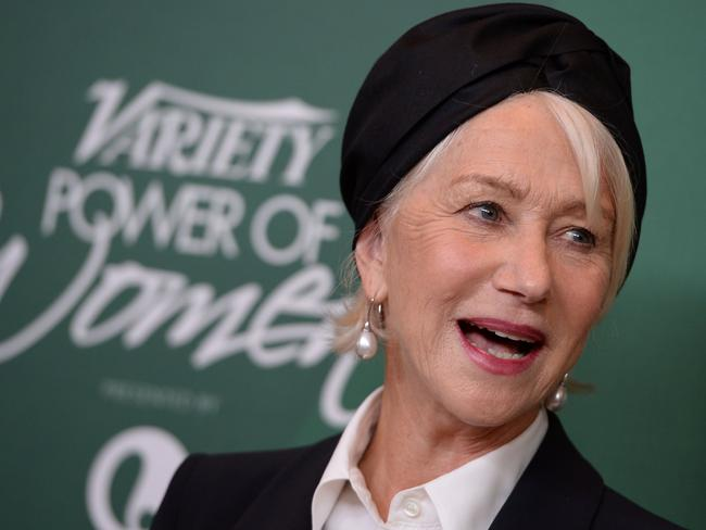 Helen Mirren is too furious to only be fast once ... Picture: AFP PHOTO / Robyn Beck