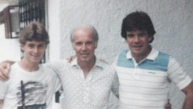 Johnny and Jamie with Brazil World Cup legend Mario Zagalla, who hosted them for six weeks in 1984.