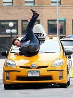 <p>James McAvoy is hit by a taxi during a stunt for upcoming film <em>Eleanor Rigby</em>. McAvoy stars in the film alongside Jessica Chastain of <em>The Help</em>. Picture: Splash </p>