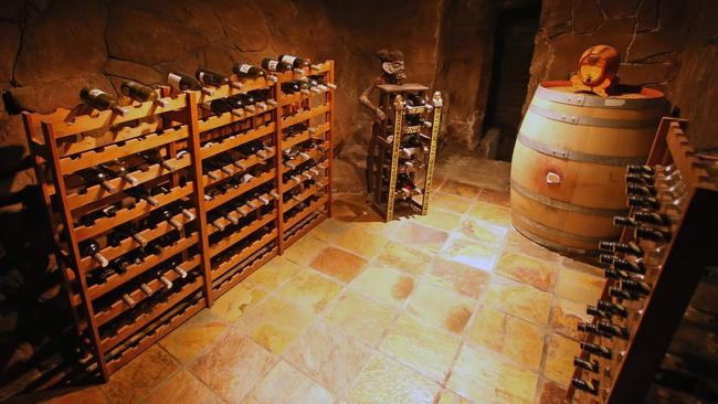 Man Caves For Sale Melbourne : Waterfall wine cellar features of gowanbrae man cave in