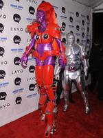 Cyborgs abound! Heidi Klum and Seal attend Heidi Klum's 2010 Halloween Party at Lavo on October 31, 2010 in New York City. Picture: Getty