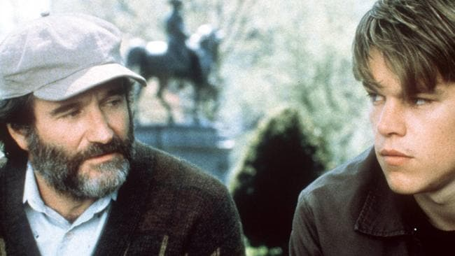 Heartfelt performance ... Robin Williams won an Oscar for his role as Matt Damon's therapist in Good Will Hunting.