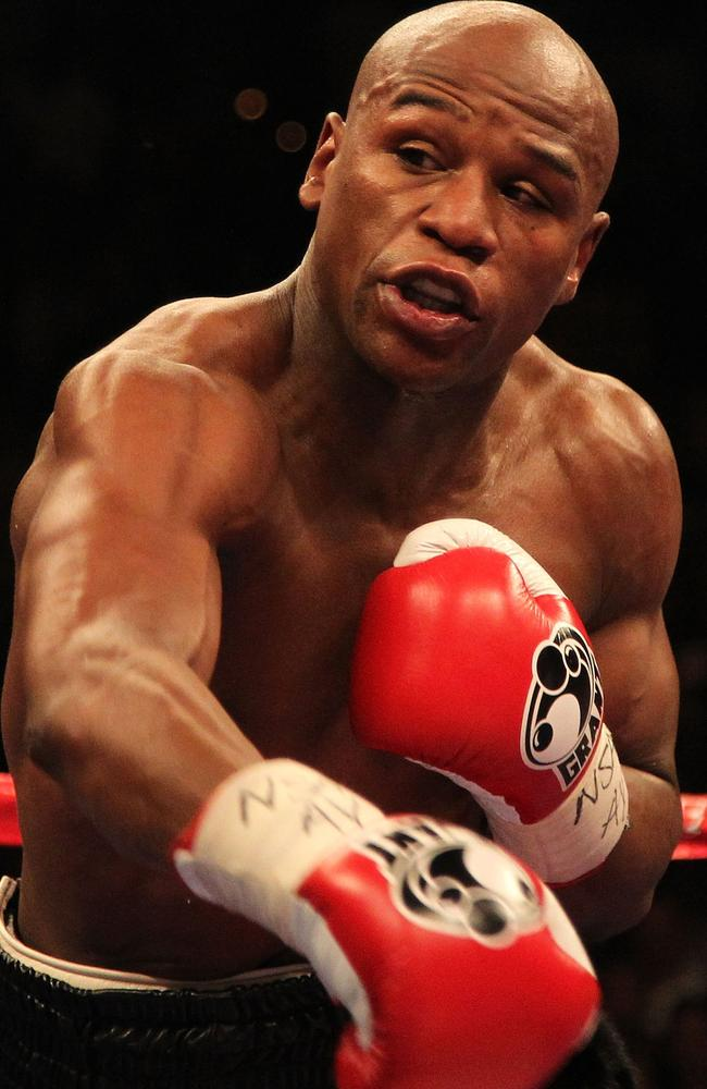 Undefeated boxing star Floyd Mayweather.