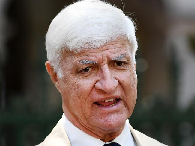 Crossbencher Bob Katter was determined that Parliament would sit on Monday even if it was on a lawn in Canberra. Picture: Dan Peled / AAP