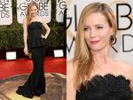Golden Globes 2014 Red carpet arrivals at the The Beverly Hilton: This is 40's Leslie Mann. Picture: Getty