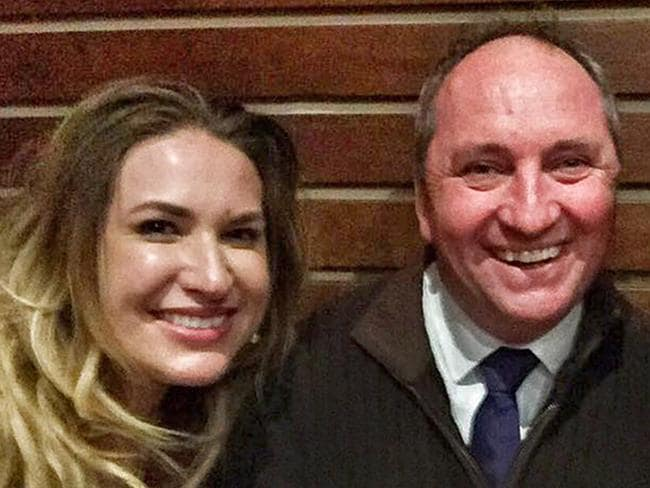 """Deputy Prime Minister Barnaby Joyce with his girlfriend and former staffer, Vikki Campion before their relationship became public knowledge.  <a capiid=""""1e157064c012b02b4b67be1b7bff2fd1"""" class=""""capi-video"""">What exactly is a ministerial sex ban? </a>"""
