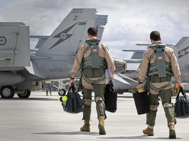 Green light ... Australian pilots will start air strikes against IS in the coming days.