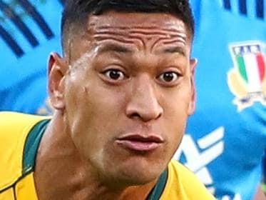 BRISBANE, AUSTRALIA - JUNE 24:  Israel Folau of the Wallabies makes a break during the International Test match between the Australian Wallabies and Italy at Suncorp Stadium on June 24, 2017 in Brisbane, Australia.  (Photo by Cameron Spencer/Getty Images)