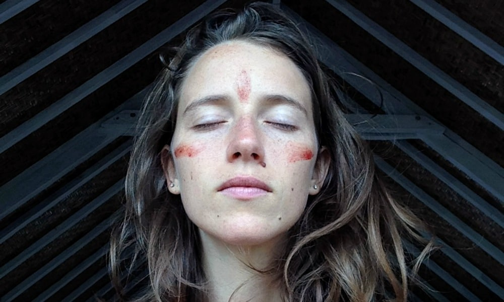 "PIC FROM Yazmina Jade / Caters News - (PICTURED: One of the women Yazmina has inspired - Karen Prosen.) - The self-described ""blood witch"" who ignited social media by giving herself a menstrual facial has painted the world red by inspiring an online movement. Australian Yazmina Jade, 26, collected the blood from her time of the month and smeared it on to her face in a ""sacred ritual"" that made waves across the planet.Now, the Gold Coast feminine healer has encouraged women from as far afield as Asia, America and Europe to stop hiding their menstrual cycle by following her lead.SEE CATERS COPY"
