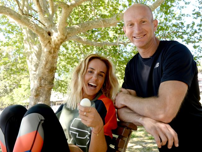 Two good eggs: Adam MacDougall with Pip Edwards. Picture: Jeremy Piper