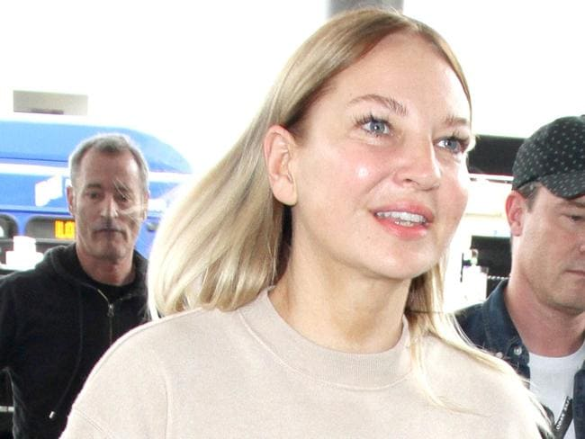 Sia has shown her face in public for once. Picture: Splash