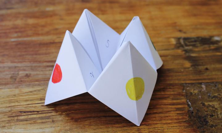 Image result for paper fortune teller