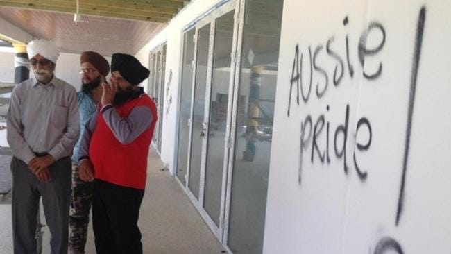 In 2014, a Sikh temple in Perth was painted with anti-Islamic slurs with confused vandals.