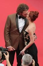 "T.J. Miller and Kate Gorney kiss as they attend the ""Wonderstruck"" screening during the 70th annual Cannes Film Festival at Palais des Festivals on May 18, 2017 in Cannes, France. Picture: Getty"