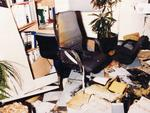 Court photos of the damage caused by the blast, which killed Detective Sergeant Geoffrey Bowen and injured lawyer Peter Wallis.