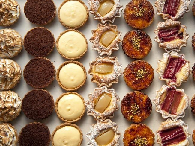 A selection of Bourke St Bakery's famous tarts.