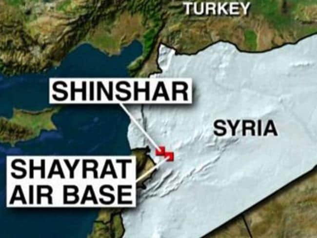 The location of the army base subject to US air strikes. Picture: Fox News