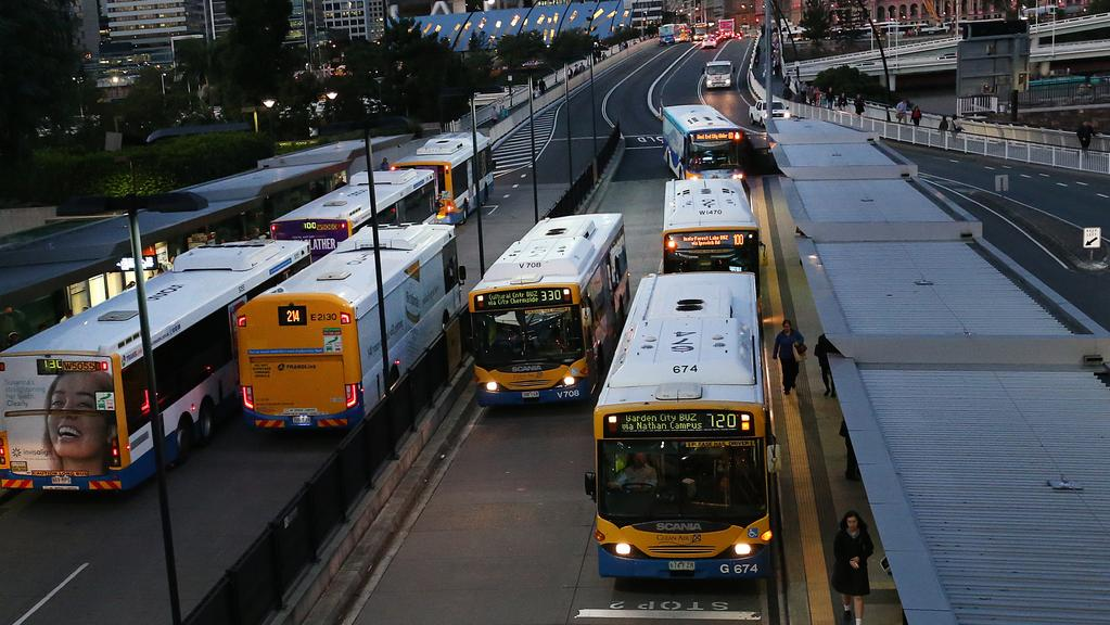 Brisbane City Council bus drivers will strike this week. Picture: Jack Tran