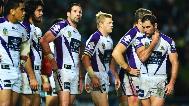 Storm captain Cameron Smith looks dejected.