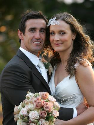 Former husband and wife: Andrew 'Joey' Johns and Catherine Mahoney