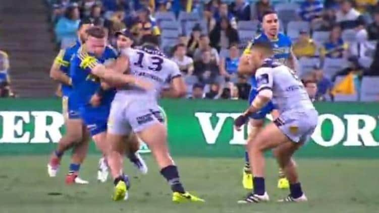 Jason Taumalolo may be in hot water for this shot on Nathan Brown.