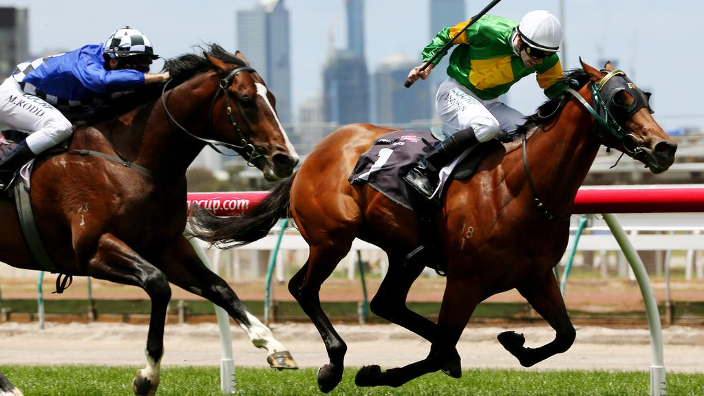 I Am The General wins at Flemington. Picture: Colleen Petch