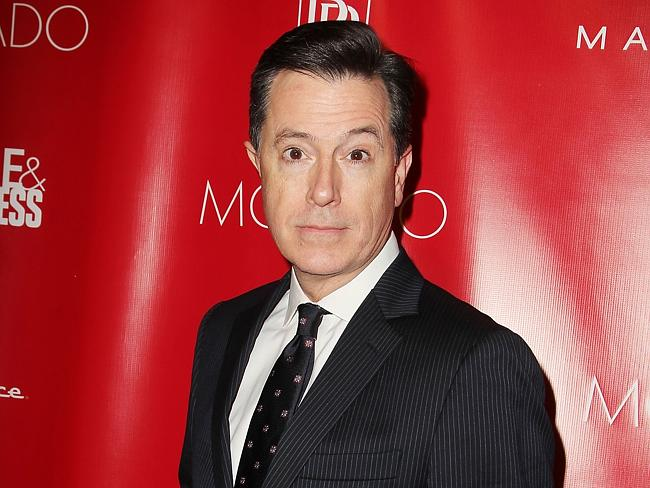 Bring it: Stephen Colbert will front the world's most iconic late night comedy show. Picture: AP