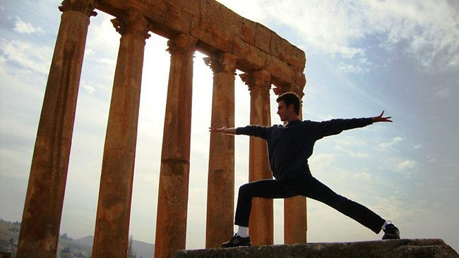Warrior II Pose in Baalbek, Lebanon. Picture: Shams S