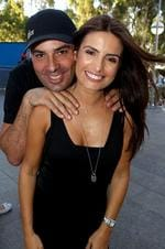 <p>Aust Open day 12 Djokovic V's Murray RLA Ada Nicodemou and husband Chrys Xipolitas</p>