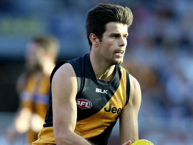 Cotchin is set to become a free agent when his contract expires at the end of next season. Picture: Wayne Ludbey