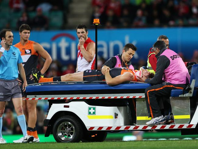 GWS Heath Shaw will miss his team's clash with Adelaide. Picture: Phil Hillyard