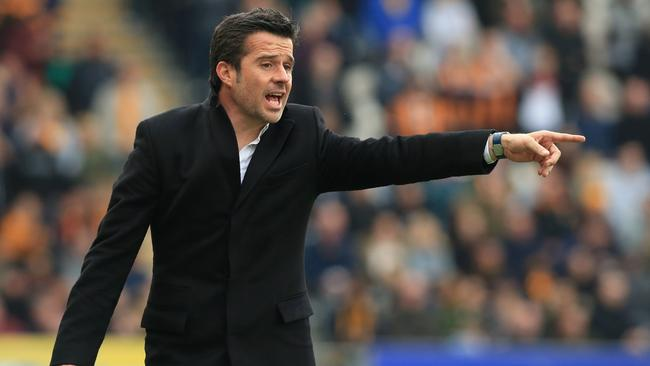 (FILES) This file photo taken on May 6, 2017 shows Hull City's Portuguese head coach Marco Silva gesturing on the touchline during the English Premier League football match between Hull City and Sunderland at the KCOM Stadium in Kingston upon Hull, north east England. Watford hired former Hull City boss Marco Silva as their new manager on Saturday, May 27, 2017, following Walter Mazzarri's departure from the Premier League club. / AFP PHOTO / Lindsey PARNABY / RESTRICTED TO EDITORIAL USE. No use with unauthorized audio, video, data, fixture lists, club/league logos or 'live' services. Online in-match use limited to 75 images, no video emulation. No use in betting, games or single club/league/player publications. /