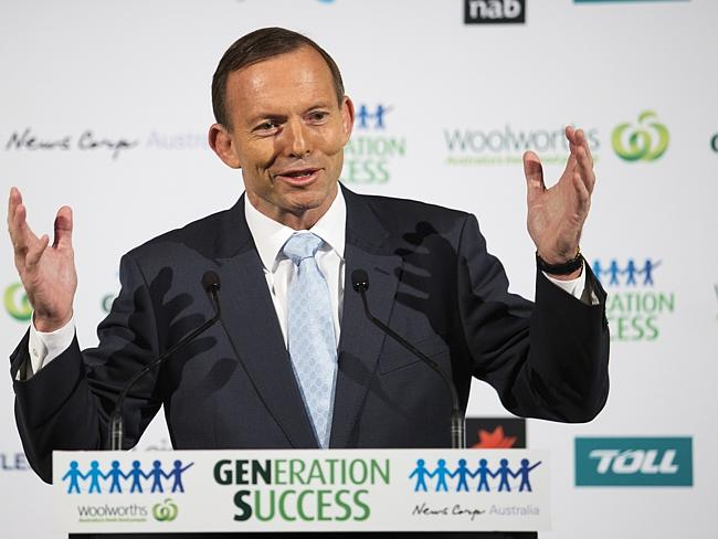 """""""The government I lead is determined to create the best possible environment to provide work and to find work"""" ... Prime Minister Tony Abbott."""