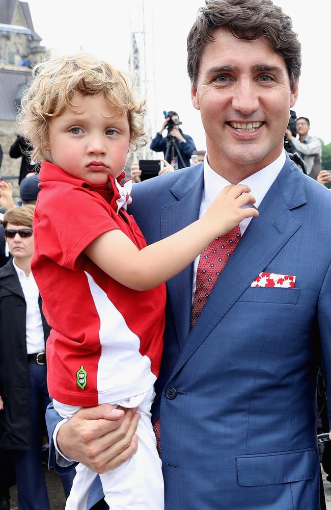 OK, we see where he gets it from. Picture: Chris Jackson/Getty Images