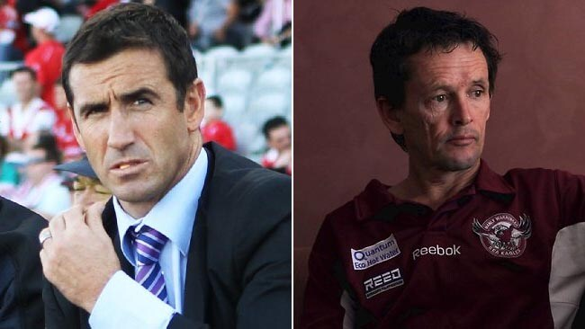 MIDDLE MEN: Rugby league great Andrew Johns and former jockey Allan Robinson are caught up in the Waterhouse-Singleton feud.