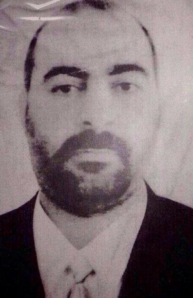 Released by the Iraqi Ministry of Interior on January 29, 2014, the photograph is purportedly of Abu Bakr al-Baghdadi, the leader of the Islamic State of Iraq and Syria. Picture: AFP