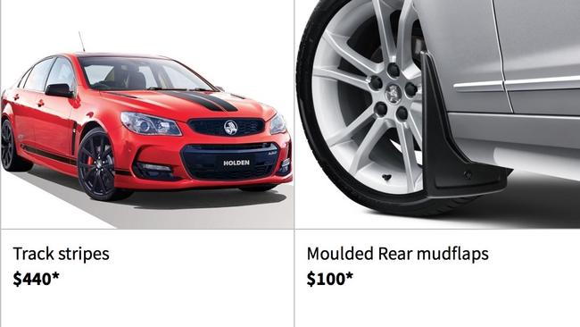 Holden Commodore stripes are $18,560 cheaper than a Ferrari's. Picture: Supplied