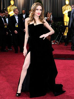 Angelina Jolie arrives at the 84th Annual Academy Awards. Picture: Getty