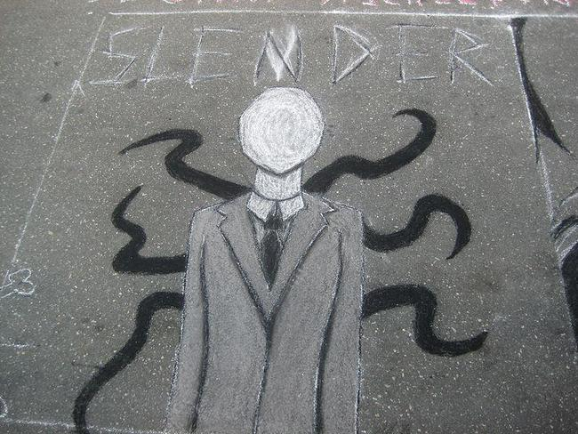 The Slenderman is a horro fantasy character. Picture: Supplied