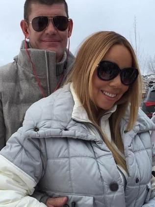 Mariah Carey with James Packer in Aspen. Picture: Instagram