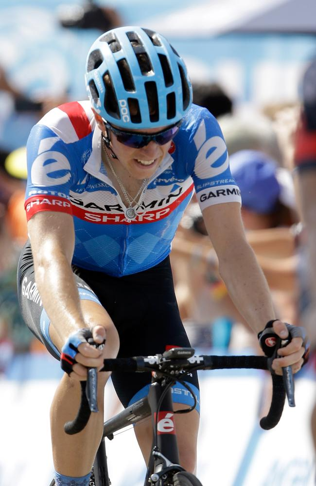 Rohan Dennis riding for Team Garmin-Sharp during the 2014 Amgen Tour of California.